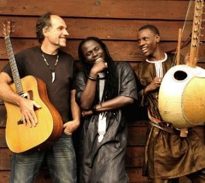 Steve Berry, Yusupha Ngum and Amadou Suso